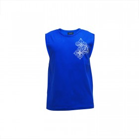 Trio Motifs Tank Tops - Royal Blue