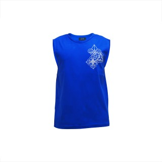 Trio Motifs Tank Tops - Royal Blue -