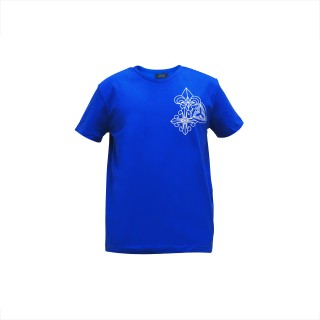 Trio Motifs Tee - Royal Blue -