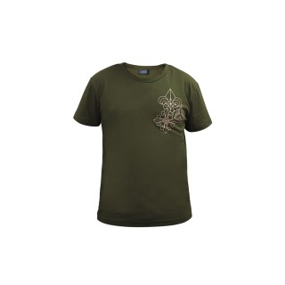 Trio Motifs Tee -  Military Green