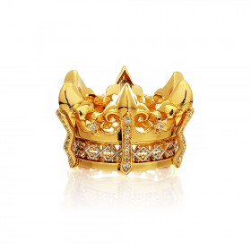 The Athena's State Crown Ring - 24 Karat Gold