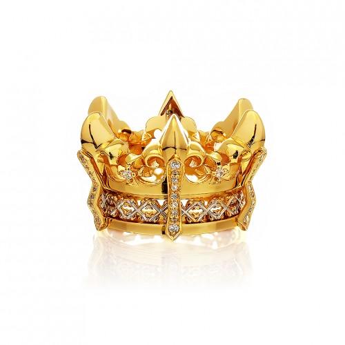 The Athena's State Crown Ring - 24 Karat Gold