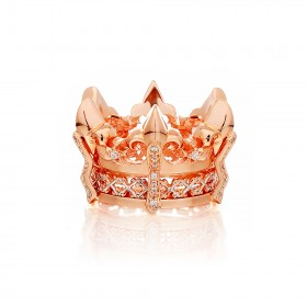 The Athena's State Crown Ring - Pure Pink Gold