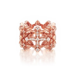 The Rituals Cross Oversized Ring 2.0 Extreme Edition - Pure Pink Gold