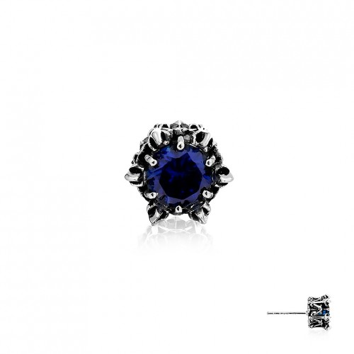 Crown of Aphrodite Stud Earring - Royal Blue