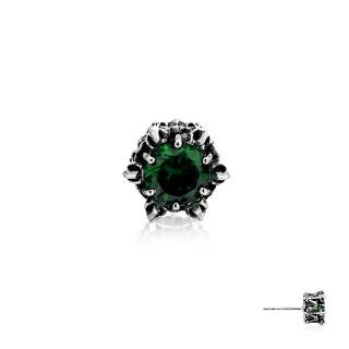 Crown of Hermes Stud Earring - Green