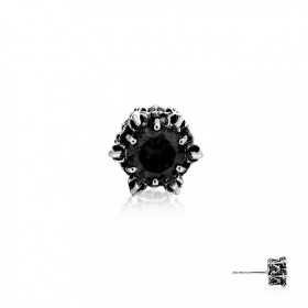 Crown of Thanatos Stud Earring - Black -