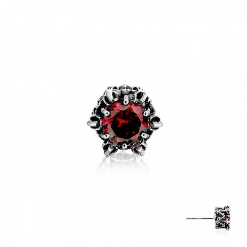 Crown of Apollo Stud Earring - Red