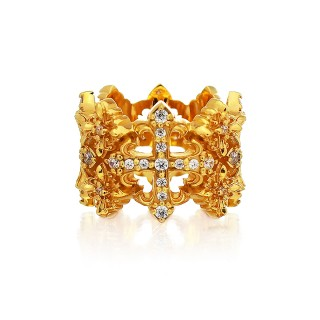 The Rituals Cross Oversized Ring 2.0 Extreme Edition - 24 Karat Gold