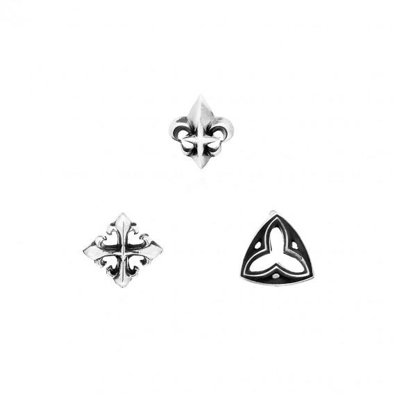 The Trinity Earrings Set - Trio Motifs